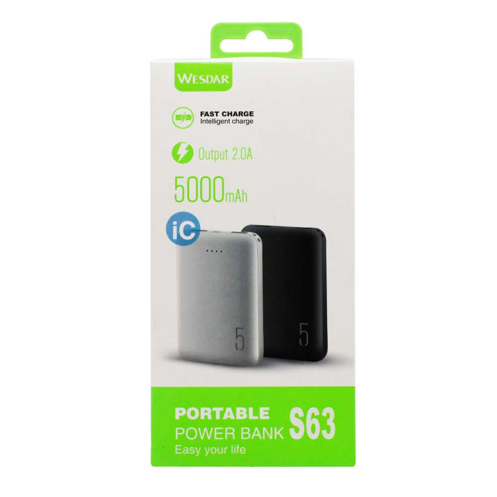 Power bank 5000mah fast charge s63
