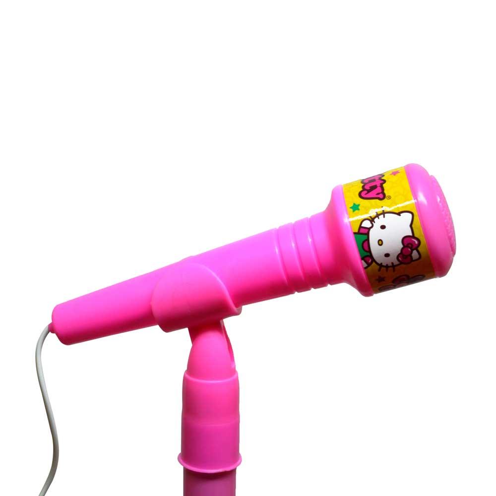 Microfono con luz y sonido hello kitty