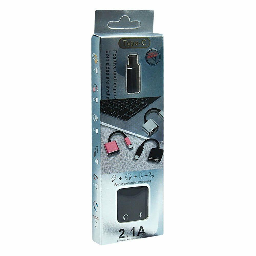 Adaptador audífono o carga tipo c 2.1a sxc-02