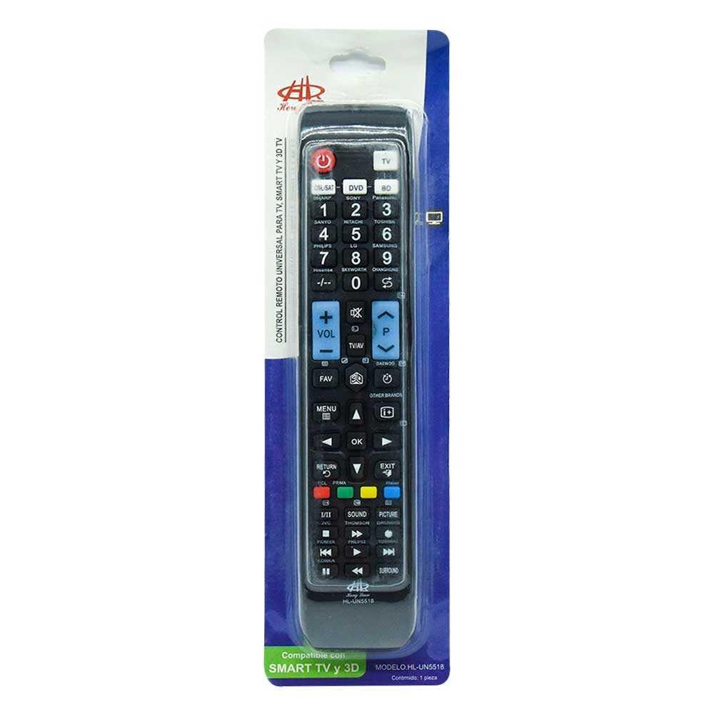 Control remoto universal para tv un5518