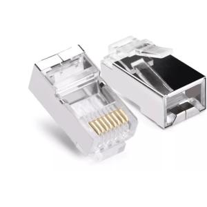 Adaptador rj45 cable red utp cat6 paquete con 100pz ele gate wi086m