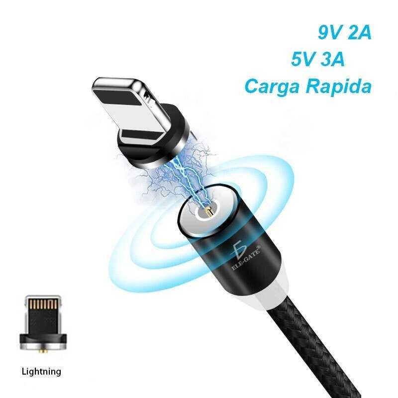 Cable iman para celular iphone lightning ios carga rapida/ ele gate wi144i5