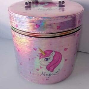 Cosmetiquera con estampado de unicornio lk-711