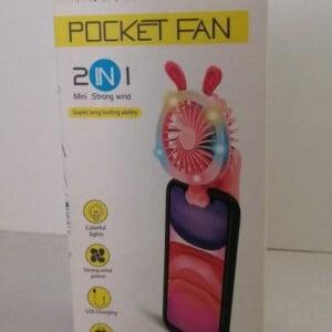 Ventilador con luz para el celular con orejas env-028