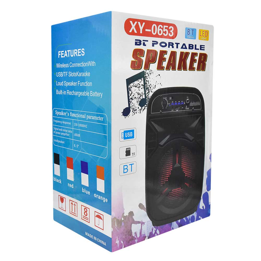 Bocina bt portable usb/tf/led xy-0653