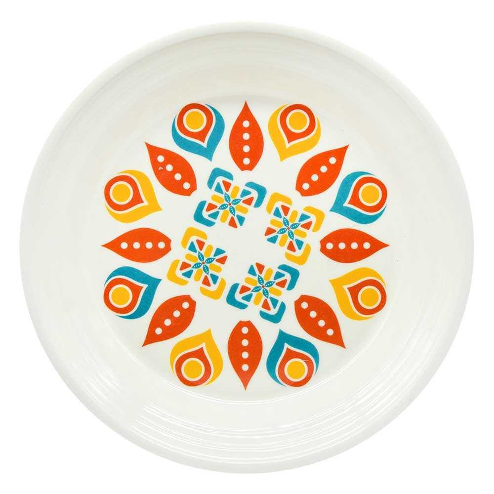 1pz plato redondo con estampado de flores zc-0248