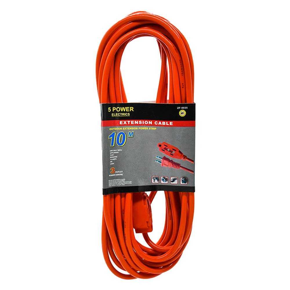 Extención eléctrica uso rudo 10 metros zf-0035