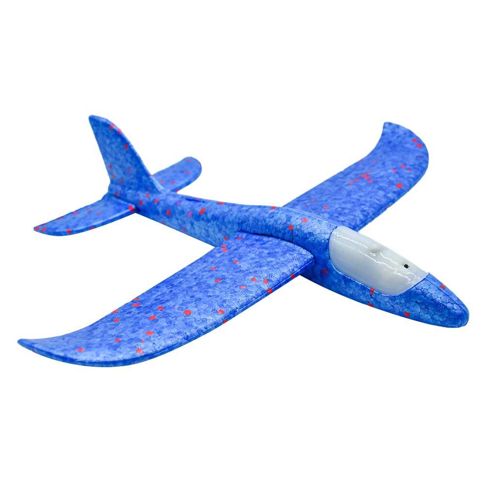 Avion de unicel armable c/luz 1pz zj-0311