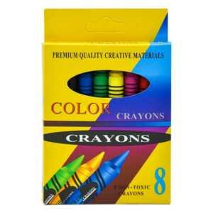 Paquete de crayolas con 8 colores zp-0136