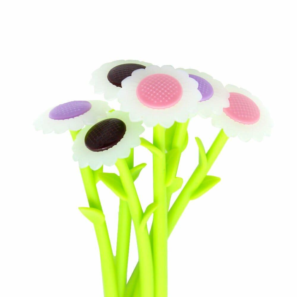 Paquete c/12 plumas de gel en forma de flor zp-0245 zadako