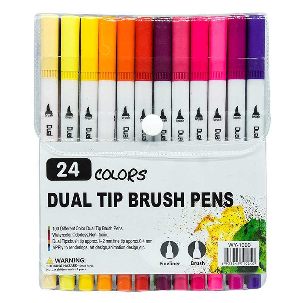 Blister de pincelines con 24 colores zp-0580