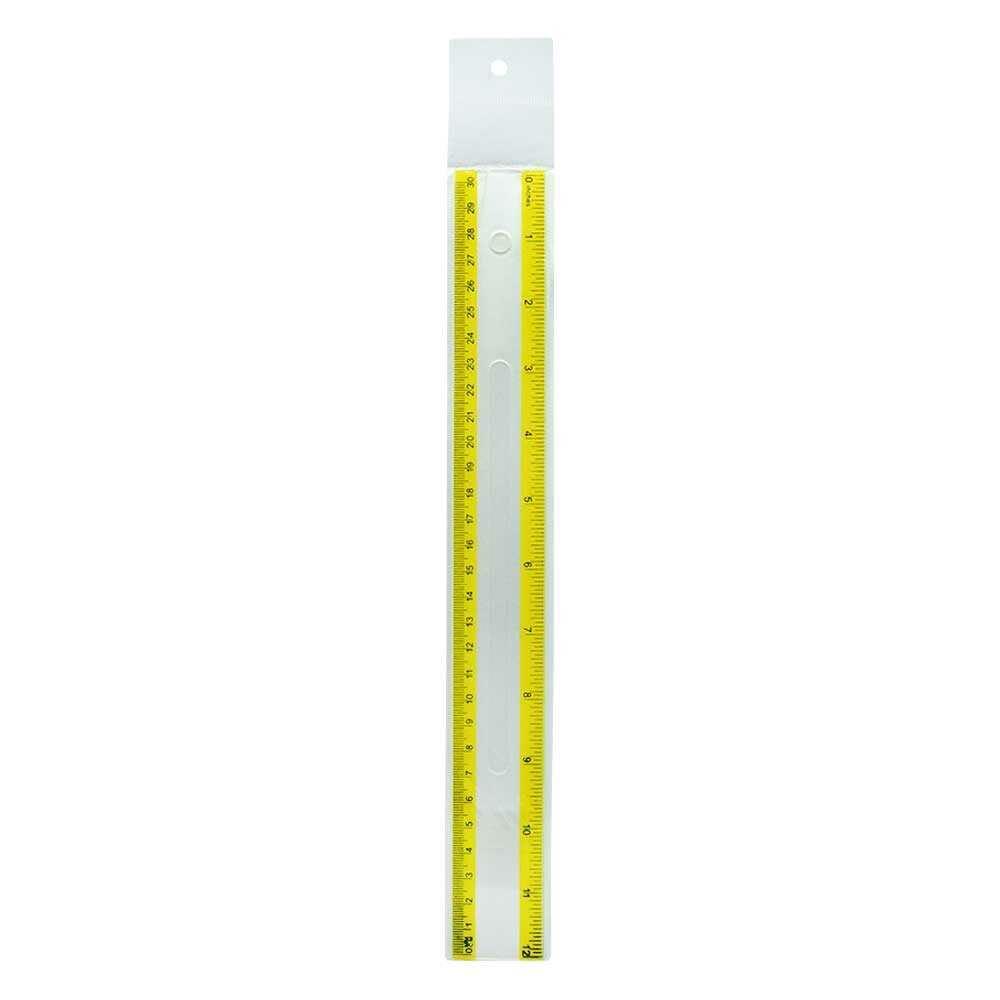 Regla plastica transparente de 30cm zp-0659