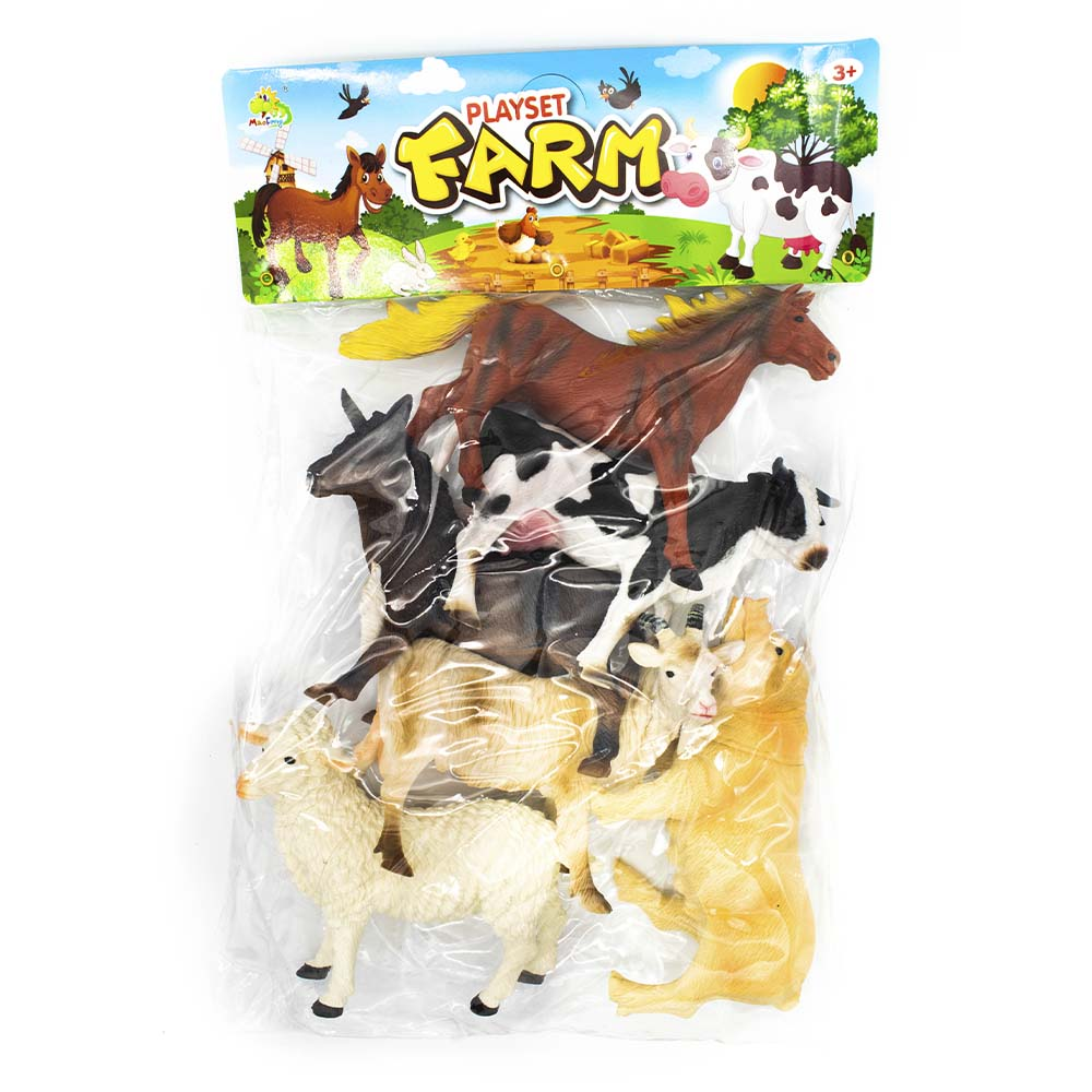 Juguete set granja playset farm 6ps ys8-006 generico
