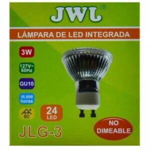 Foco led dicroico 3w base gu-10 luz blanca jlg-3b jwj
