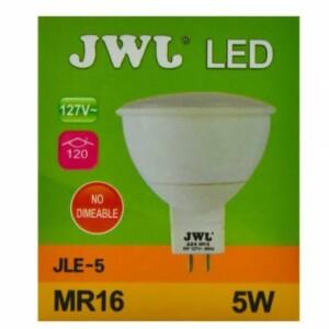 Foco led dicroico 5w base mr-16/gu5.3 luz cálida jle-5c jwj
