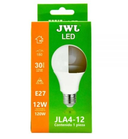 Foco led omnidireccional 12w luz cálida jla4-12c jwj