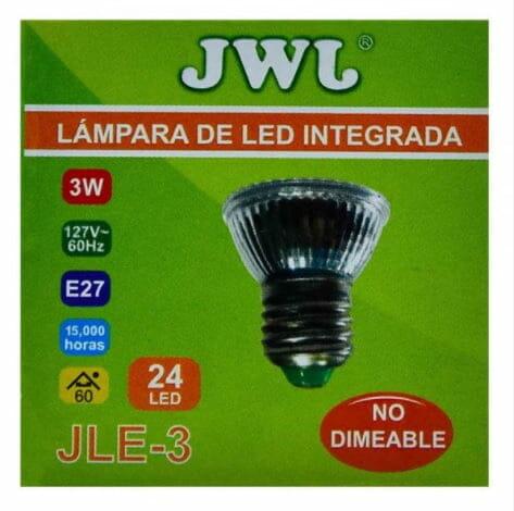 Foco led base e-27 luz blanca jle-3b marca jwj