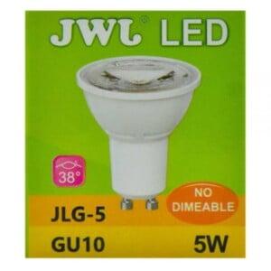 Foco led dicroico 5w base gu-10 luz blanca jlg-5b jwj