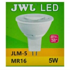 Foco led dicroico 5w base mr-16/gu5.3 luz blanca jlm-5b jwj