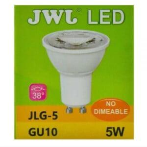 Foco led dicroico 5w base gu-10 luz cálida jlg-5c jwj