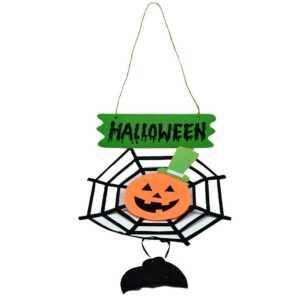 Adorno de telaraña para halloween h433 ele gate