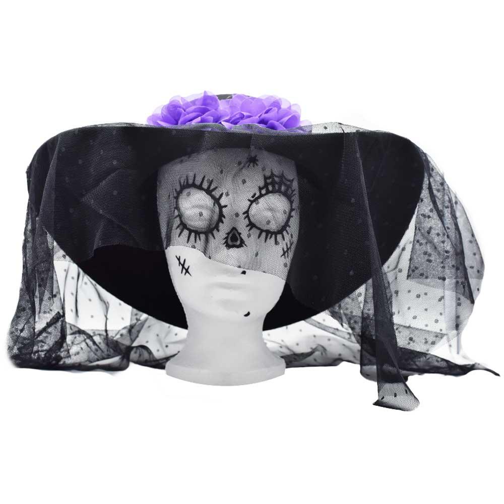 Sombrero catrina flores para dia de muertos h4422 ele gate