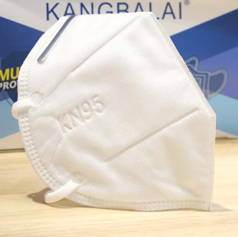 Cubrebocas kn95 sin valvula blanco 5 piezas