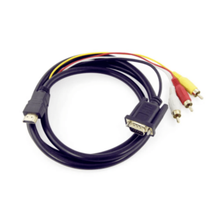 Cable con entrada hdmi y salida vga/rca wi.90