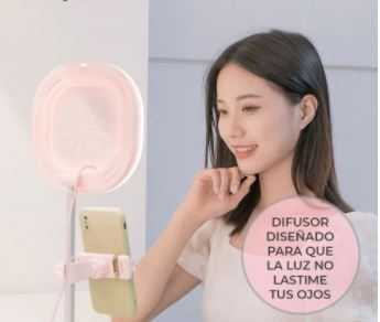 Aro de luz led y3 celular foto video maquillaje hold46