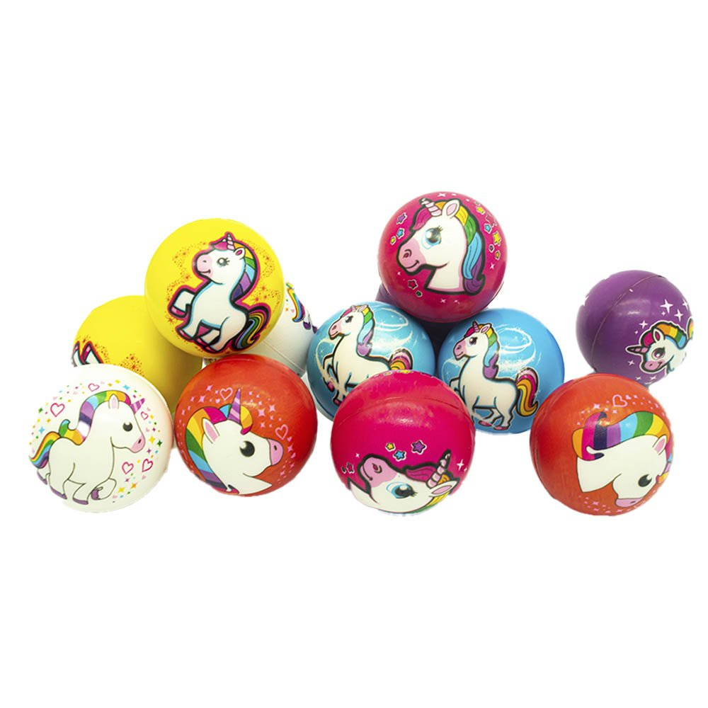 Paquete c/12pz de pelota unicornio antiestres 6cm zj-0326