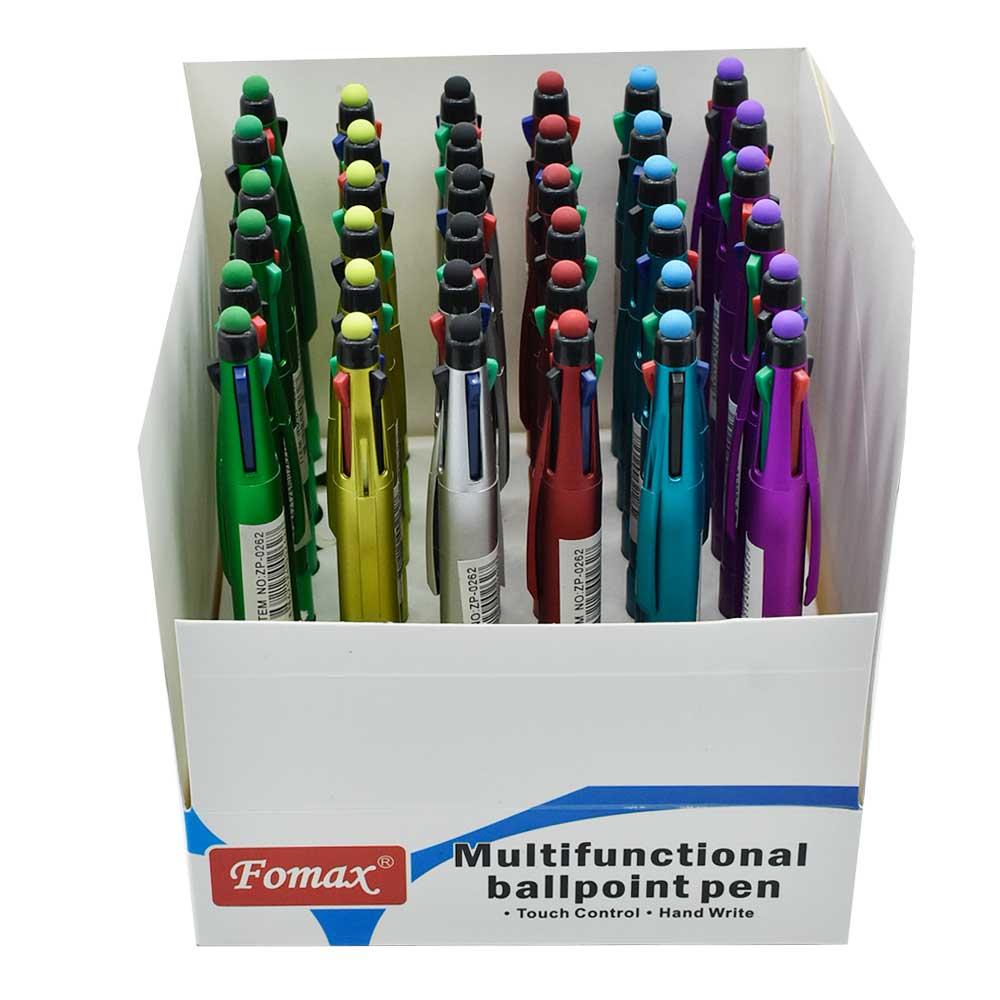 Paquete c/36pz de plumas touch 4 colores zp-0262 zadako